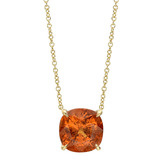Spessartite Garnet Pendant Necklace