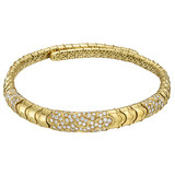 18k Gold & Pavé Diamond Choker Necklace