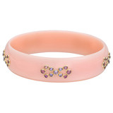 """Ruban"" Gem-Set Pink Bakelite Bangle"