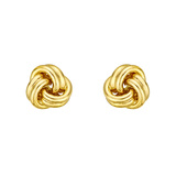 Medium 18k Yellow Gold Knot Earstuds