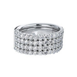 Expandable 4-Row Diamond Eternity Band (~5 ct tw)