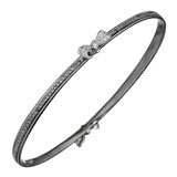 Pavé Black Diamond Mimi Bow Bangle