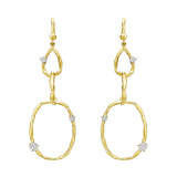 ​18k Yellow Gold & Diamond Oval Link Drop Earrings