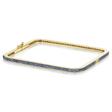 "18k Yellow Gold & Sapphire ""Piece"" Bangle Bracelet"