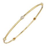 """Lula"" 18k Yellow Gold & Pavé Diamond Bangle"
