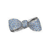 Small Pavé Sapphire Bow Ring