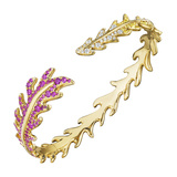"Multicolored Sapphire, Ruby & Diamond ""Phoenix"" Cuff"