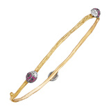 18k Gold & Gem-Set Ladybug Bangle