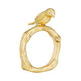 18k Gold Love Bird Band Ring