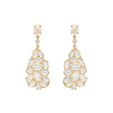 Moonstone Pear-Shaped Drop Earrings