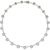 Multicolored Diamond Cluster Necklace