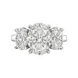 ​3.02 Carat Oval Brilliant-Cut Diamond Ring