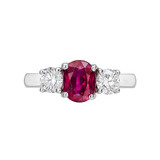 Oval-Cut Ruby & Diamond Ring