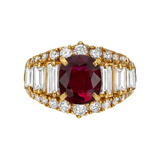 3.03 Carat Ruby & Diamond Dress Ring