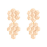 "Medium 18k Rose Gold ""Brillante"" Drop Earrings"