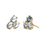 "Blue Sapphire ""Ombre"" Trillion Stud Earrings"