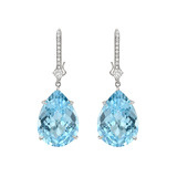 Blue Topaz Earring Pendants