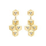 "18k Gold & Diamond ""Brillante"" Drop Earrings"