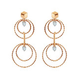 "18k Rose Gold & Diamond ""Brillante Circle"" Drop Earrings"