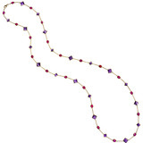 """Florentine"" Amethyst & Ruby Long Necklace"