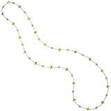 "Peridot & Pink Sapphire ""Florentine"" Long Necklace"