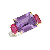 &quot;Florentine&quot; Amethyst &amp; Ruby Ring