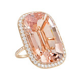 Morganite &amp; Diamond Cocktail Ring