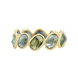 "Green Sapphire ""Ombre"" Band Ring"