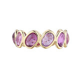&quot;Ombre&quot; Pink Sapphire Band Ring