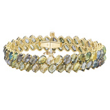 "Green Sapphire ""Ombre"" Two-Row Bracelet"