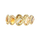 "Orange Sapphire ""Ombre"" Band Ring"