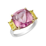 Pink Spinel &amp; Chrysolite Ring