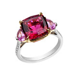 Pink Tourmaline &amp; Pink Sapphire Ring