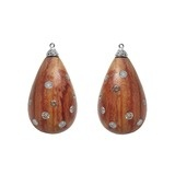 Rosewood & Multicolored Diamond Earring Pendants