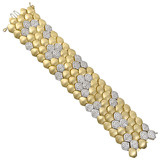 18k Gold & Diamond 5-Row Snake Link Bracelet