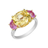 Yellow Sapphire &amp; Pink Sapphire Ring
