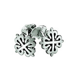 ​18k White Gold Calatrava Cross Cufflinks