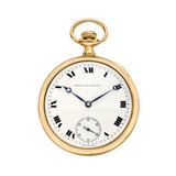 Vintage Open-Faced Yellow Gold Pocket Watch