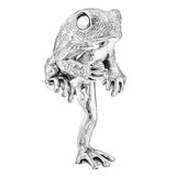 Silver Standing Toad Sculpture