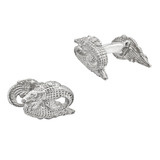Silver Crocodile Cufflinks