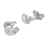 Silver Hippo Cufflinks