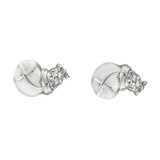 Silver Hippo Stud Earrings