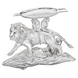 Silver Lion &amp; Monkey Ashtray
