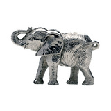 Small Silver Elephant Calf Sculpture