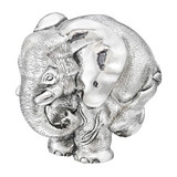 "Extra Large Silver ""ZoZo"" Elephant Sculpture"