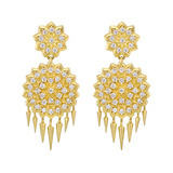 "Small ""Appliqué"" Diamond Drop Earrings"