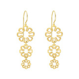 "​18k Gold ""Flower Power"" Drop Earrings"