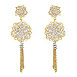 """Anemone"" 18k Gold & Pavé Diamond Tassel Earrings"