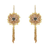 "18k Gold & Diamond ""Anemone"" Tassel Earrings"
