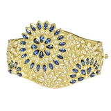 &quot;Appliqu Bombay&quot; Sapphire &amp; Diamond Cuff Bracelet